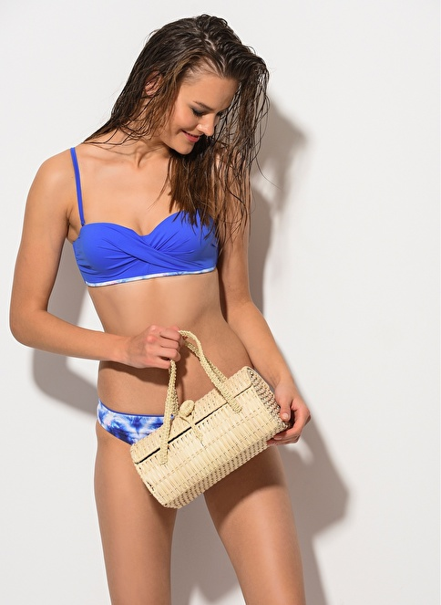Dagi Straplez Kaplı Bikini Takım Saks